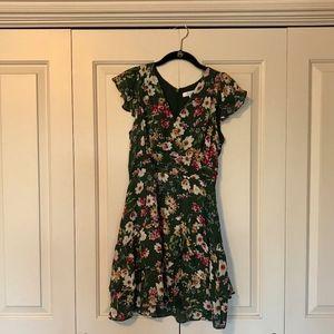 NWT Green Floral Parker Dress